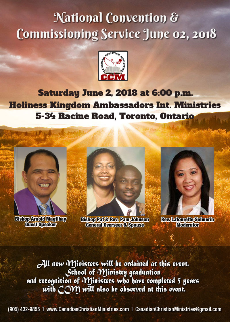 Saturday June 02, 2018 - National Convention & Commissioning Service
