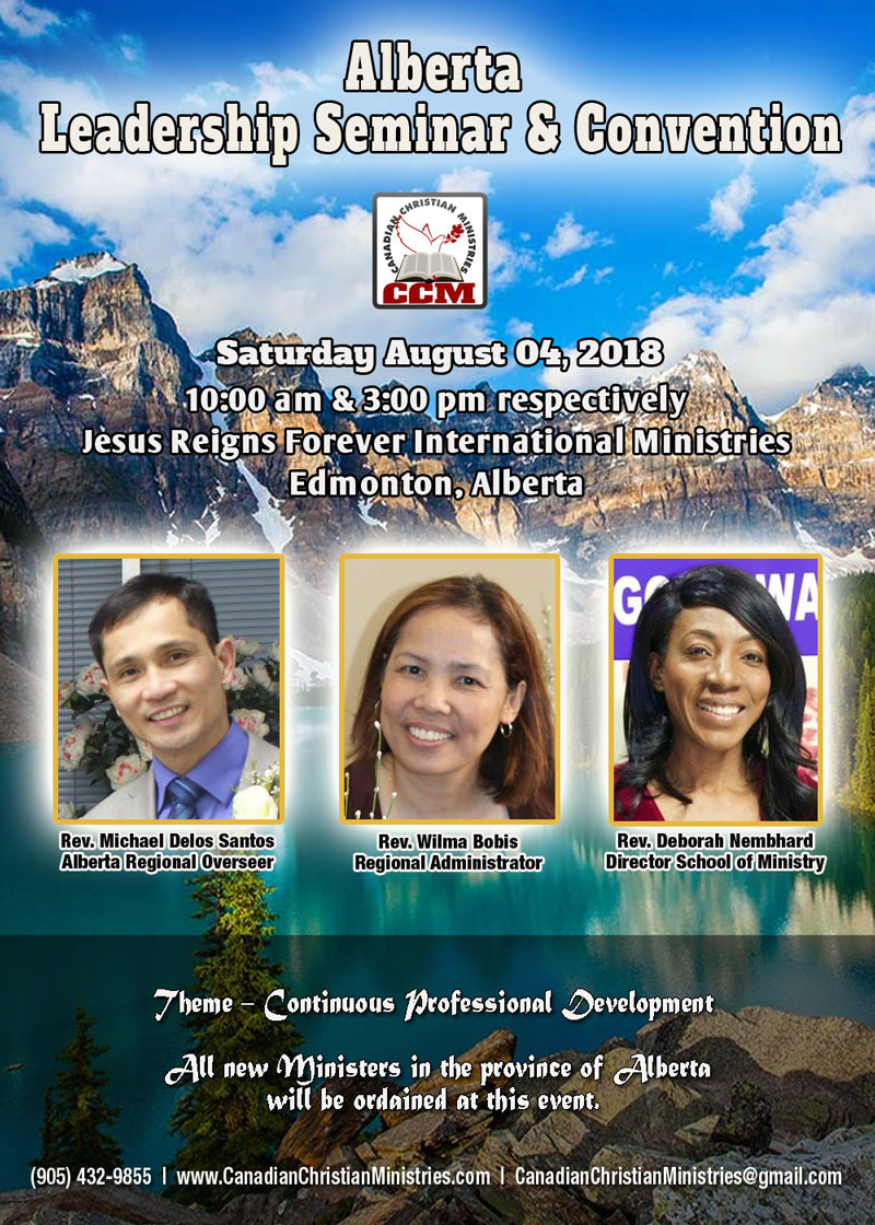 Saturday August 04, 2018 - Alberta Leadership Seminar & Convention